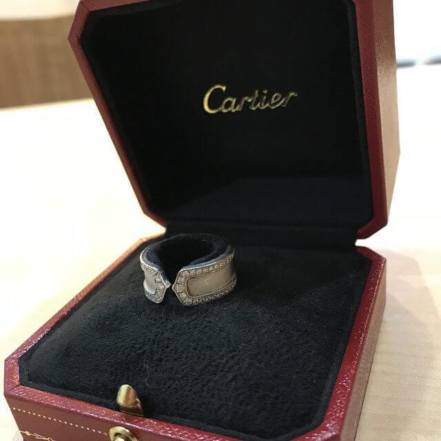 上新庄のお客様からカルティエの指輪【C2ダイヤリング】を買取_02