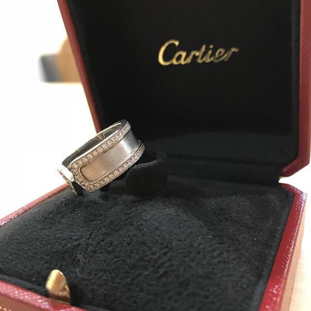 上新庄のお客様からカルティエの指輪【C2ダイヤリング】を買取_03