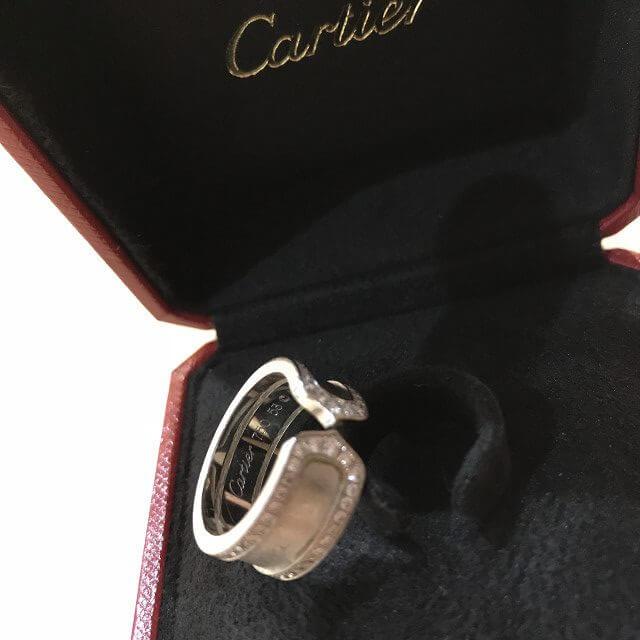 上新庄のお客様からカルティエの指輪【C2ダイヤリング】を買取_04