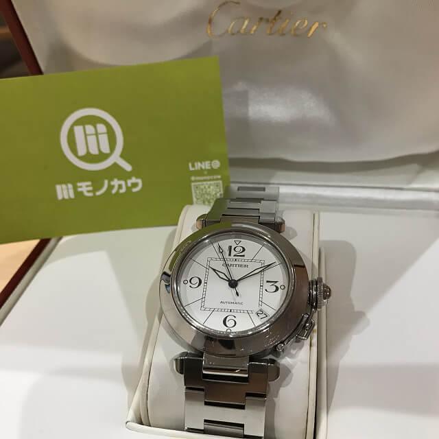 十三のお客様からカルティエの腕時計【パシャC】を買取_01