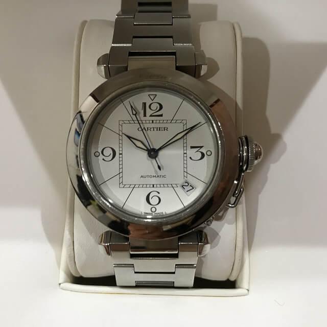 十三のお客様からカルティエの腕時計【パシャC】を買取_02