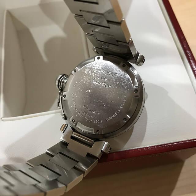 十三のお客様からカルティエの腕時計【パシャC】を買取_03