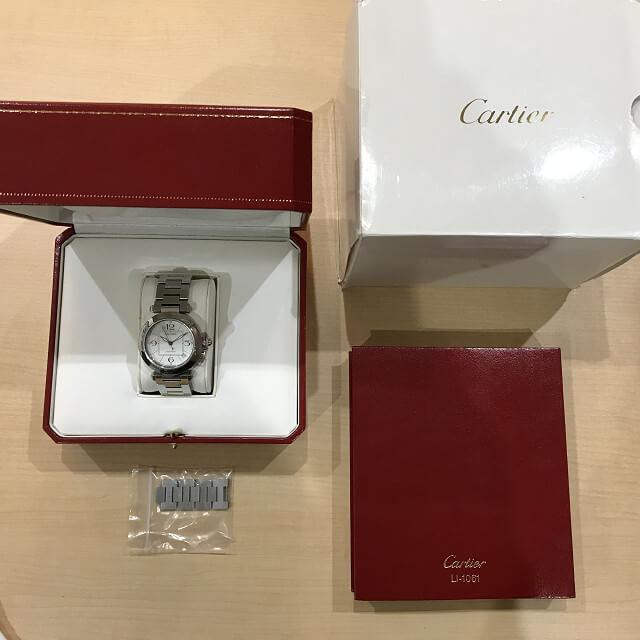 十三のお客様からカルティエの腕時計【パシャC】を買取_04