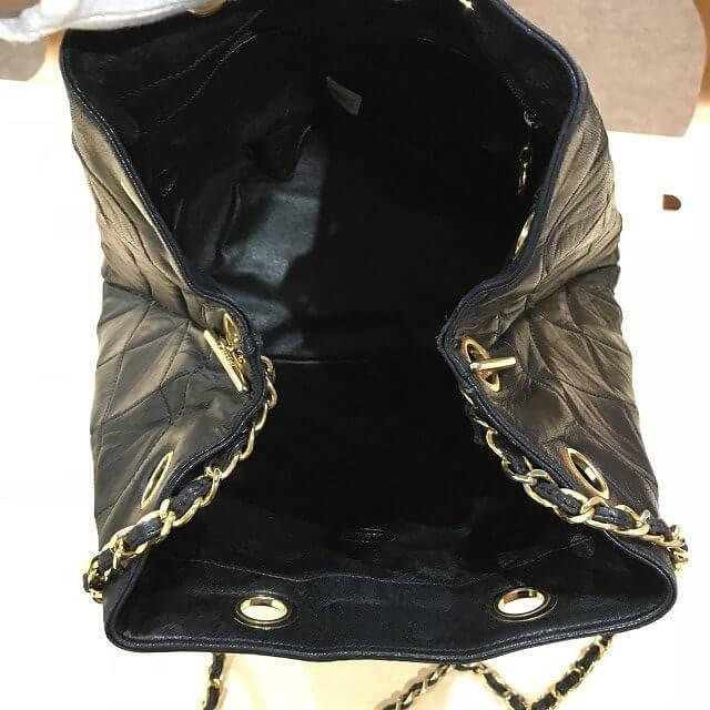 江南からシャネルのラムスキン巾着バッグを買取_04
