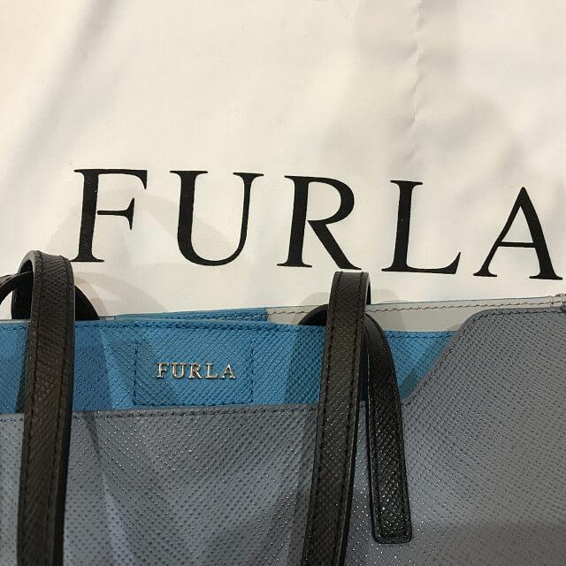 門真のお客様からフルラのバイカラートートバッグを買取_03