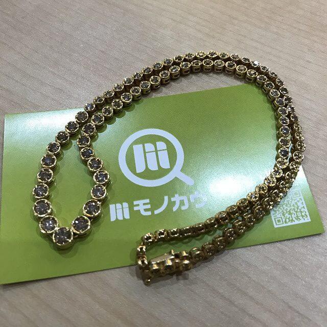 鶴橋のお客様からダイヤモンドの総カラット数5.00ctのネックレスを買取_01