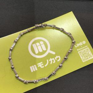 鶴橋のお客様からメレダイヤ1.00ctのホワイトゴールドブレスレットを買取