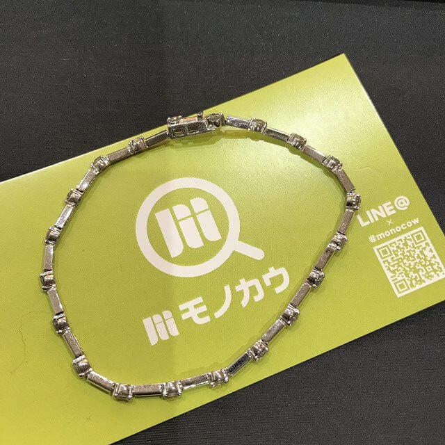 鶴橋のお客様からメレダイヤ1.00ctのホワイトゴールドブレスレットを買取_01