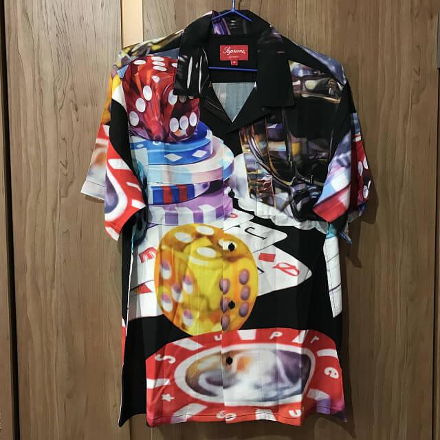 生野のお客様からSupremeの18AW Casino Rayon Shirtを買取_01