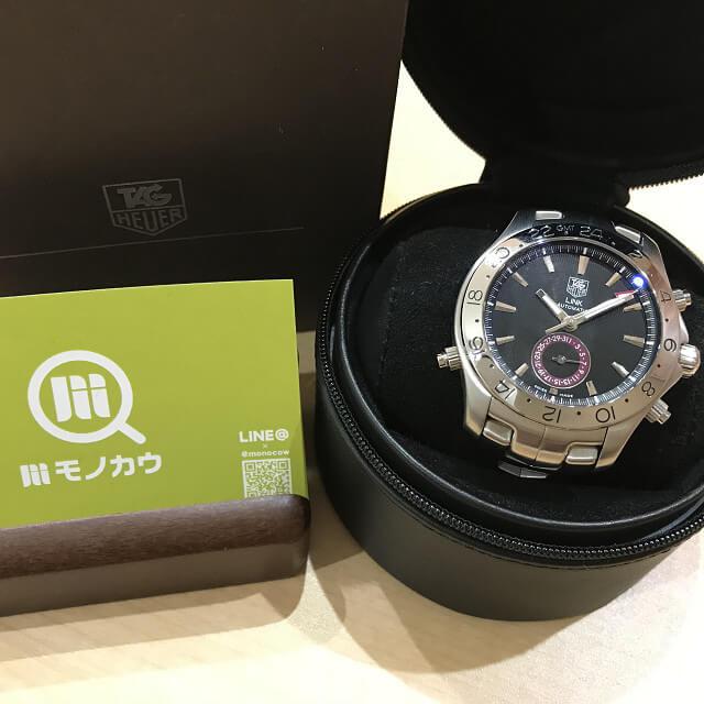 今里のお客様からタグホイヤーの腕時計【リンク GMT】を買取_01