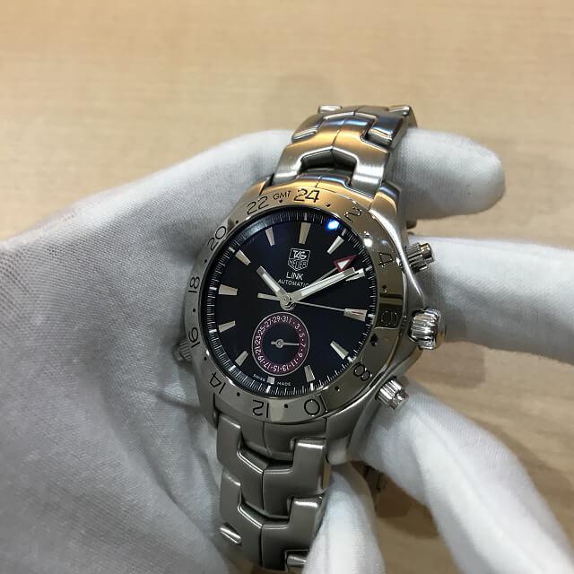 今里のお客様からタグホイヤーの腕時計【リンク GMT】を買取_03