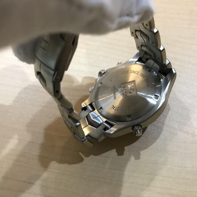 今里のお客様からタグホイヤーの腕時計【リンク GMT】を買取_04