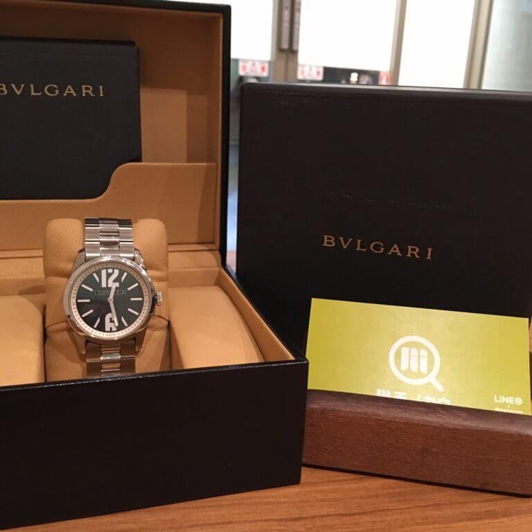 阿倍野のお客様からブルガリの腕時計【ソロテンポ】を買取_01