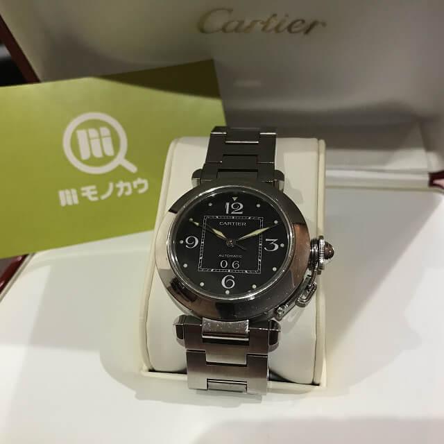 緑橋のお客様からカルティエの腕時計【パシャ】を買取_01