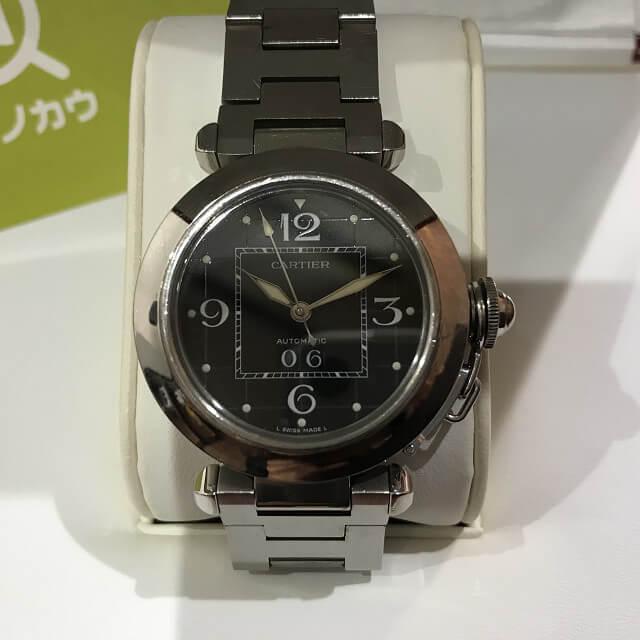 緑橋のお客様からカルティエの腕時計【パシャ】を買取_02