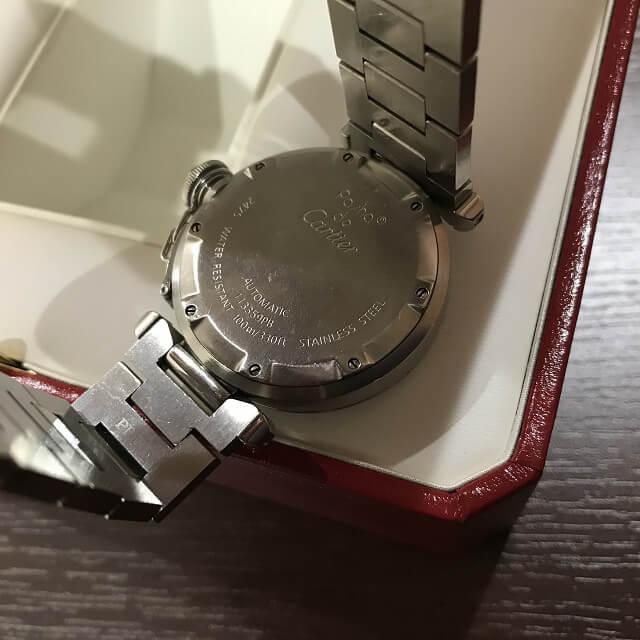 緑橋のお客様からカルティエの腕時計【パシャ】を買取_03