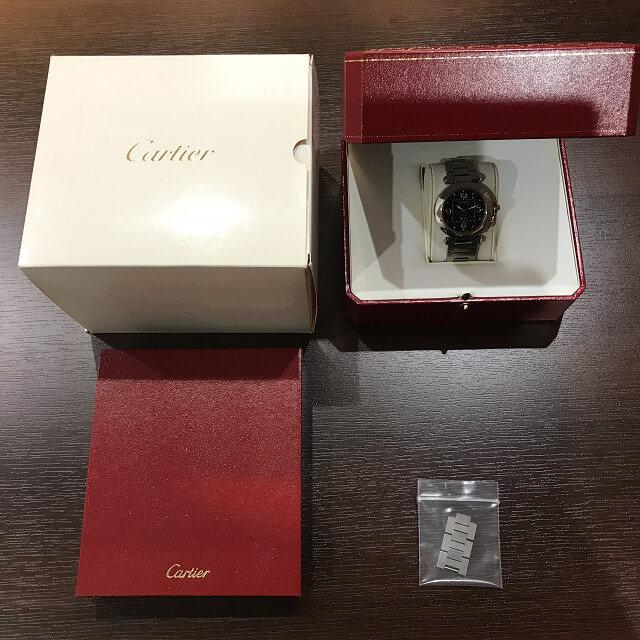 緑橋のお客様からカルティエの腕時計【パシャ】を買取_04