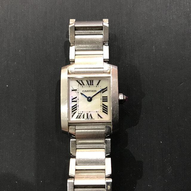 大阪のお客様からカルティエの腕時計【タンクフランセーズ】を買取_02