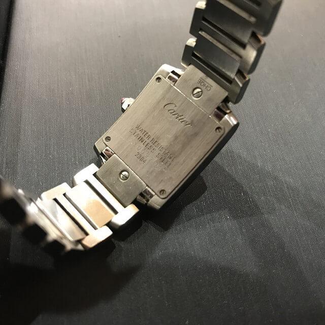 大阪のお客様からカルティエの腕時計【タンクフランセーズ】を買取_03