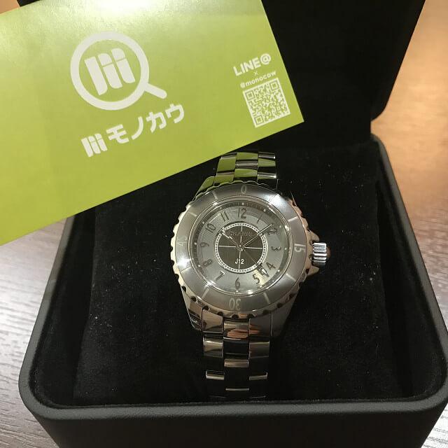 生野区北巽のお客様からシャネルの腕時計【J12】を買取_01