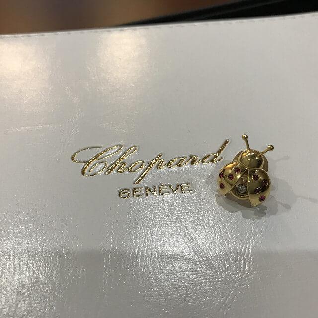 玉造のお客様からショパールのハッピーシリーズのブローチ【てんとう虫】を買取_03