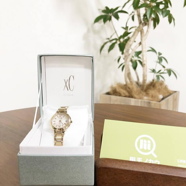 大和西大寺のお客様からシチズンの腕時計【xC(クロスシー)】を買取_01