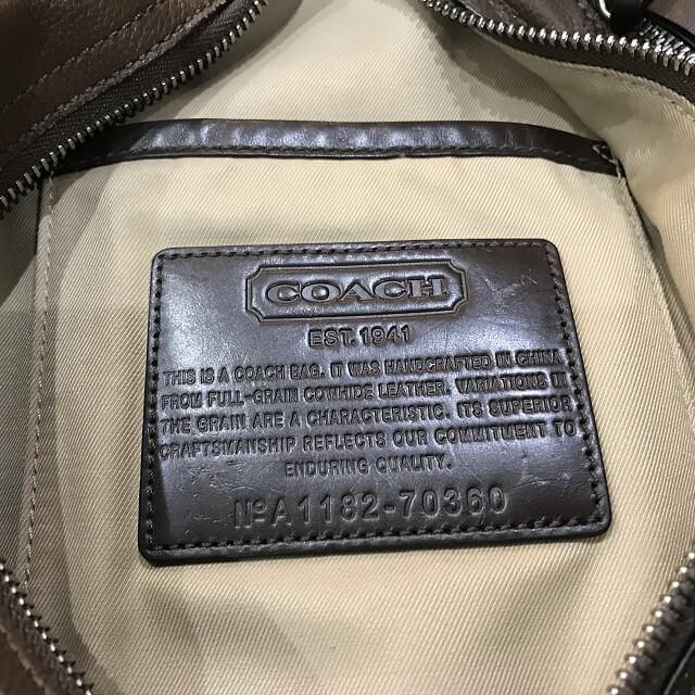 枚方店にてコーチのボディバッグを買取_04