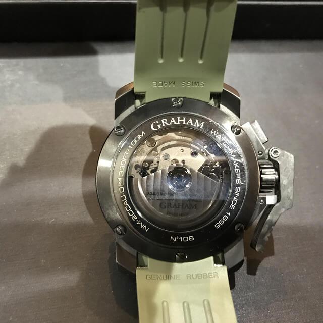 大阪市此花区のお客様からGRAHAM(グラハム)の腕時計【クロノファイター】を買取_02