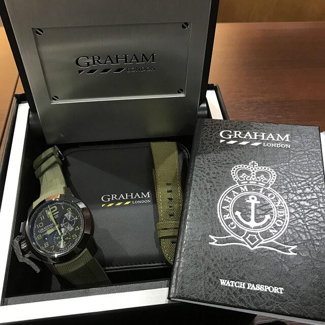 大阪市此花区のお客様からGRAHAM(グラハム)の腕時計【クロノファイター】を買取_03