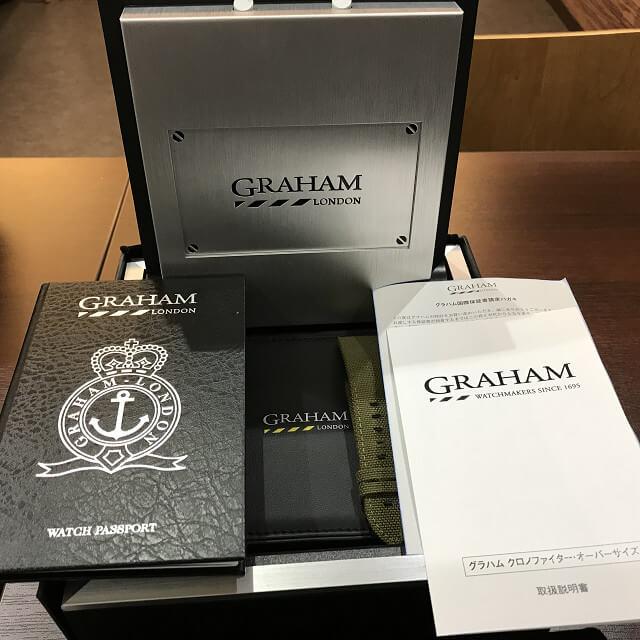 大阪市此花区のお客様からGRAHAM(グラハム)の腕時計【クロノファイター】を買取_04