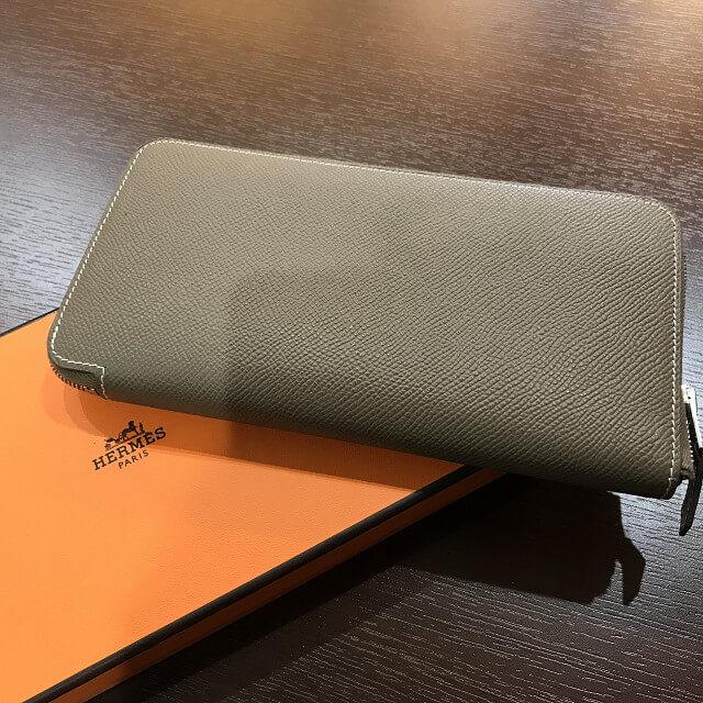 大阪のお客様からエルメスの長財布【アザップロング シルクイン】を買取_02