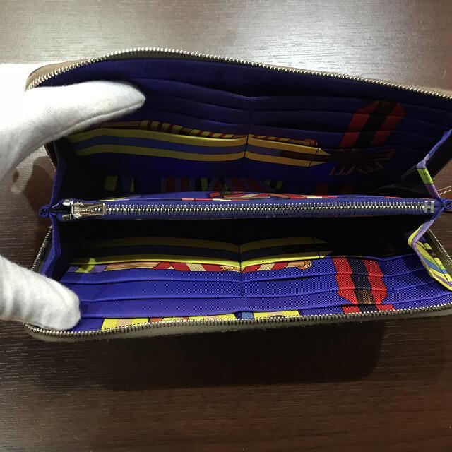 大阪のお客様からエルメスの長財布【アザップロング シルクイン】を買取_03
