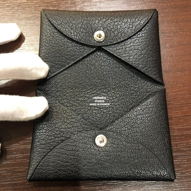 高松からエルメスのカードケース【カルヴィ】を買取_03