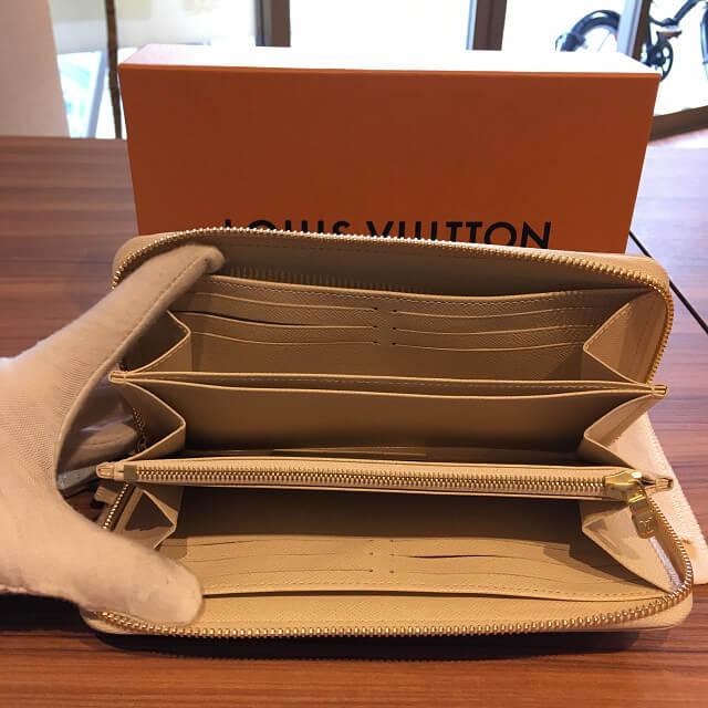 今里のお客様からヴィトンのダミエアズールの長財布【ジッピーウォレット】を買取_02