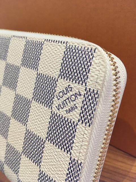 今里のお客様からヴィトンのダミエアズールの長財布【ジッピーウォレット】を買取_04
