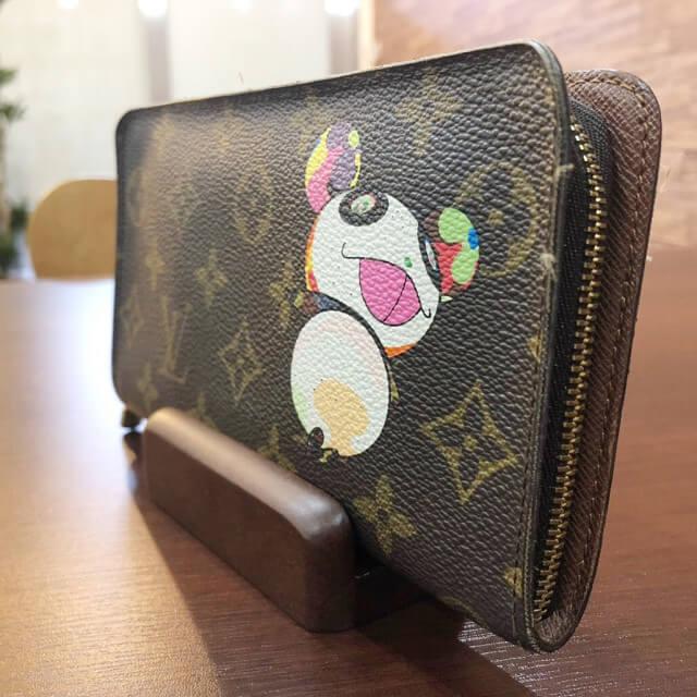 五條市のお客様からヴィトンのモノグラムパンダ【ポルトモネジップ】長財布を買取_03