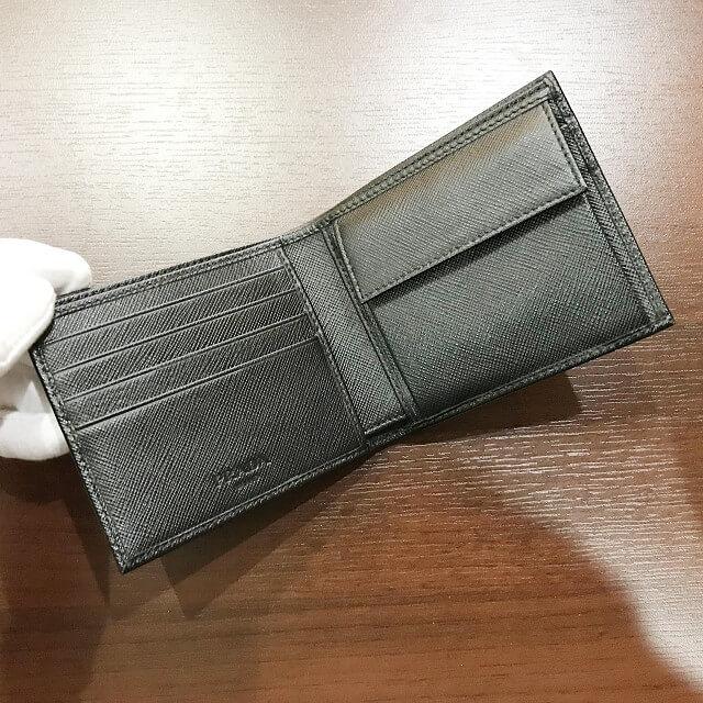 東大阪長田のお客様からプラダの二つ折り財布を買取_04