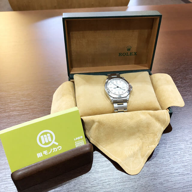 天王寺のお客様からロレックスの腕時計【エクスプローラー2】を買取_01
