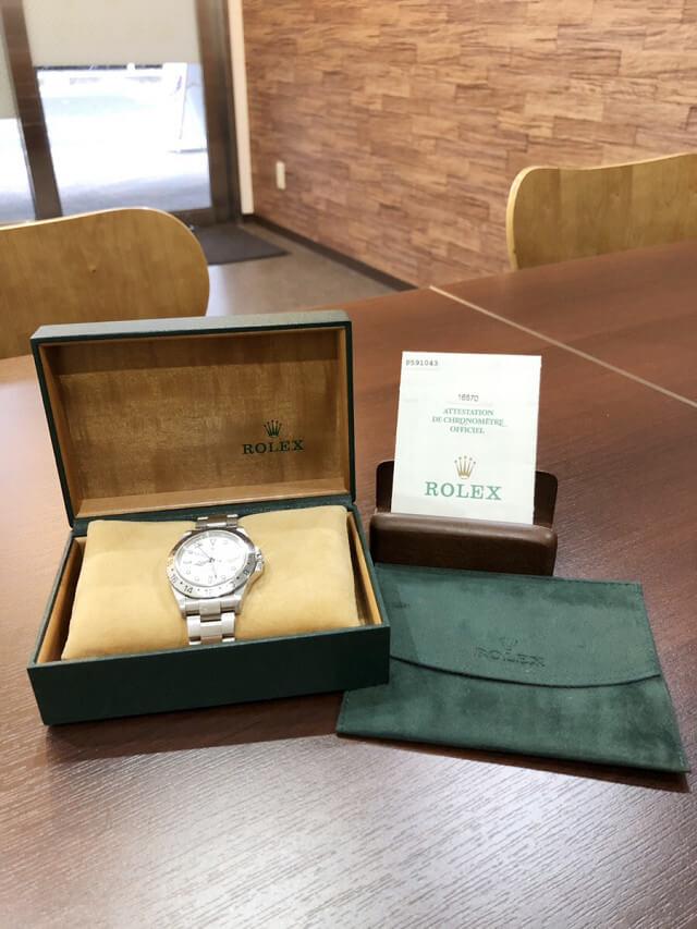 天王寺のお客様からロレックスの腕時計【エクスプローラー2】を買取_02