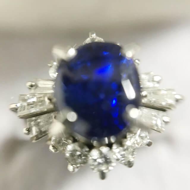 鴫野のお客様からサファイア×ダイヤのプラチナリングを買取_02