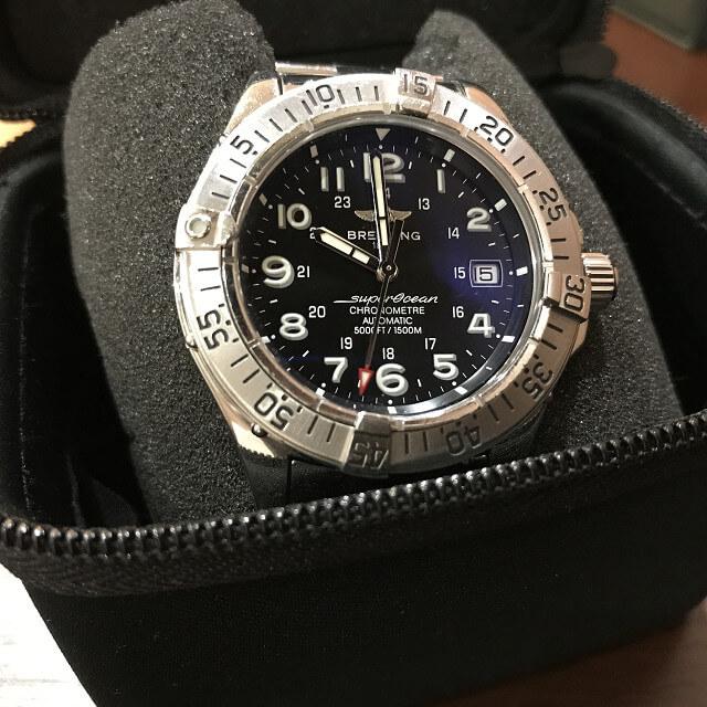 池田のお客様からブライトリングの腕時計【スーパーオーシャン】を買取_03