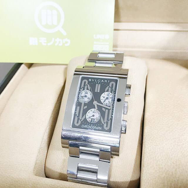 静岡県清水町からブルガリの腕時計【レッタンゴロ クロノ】を買取_01
