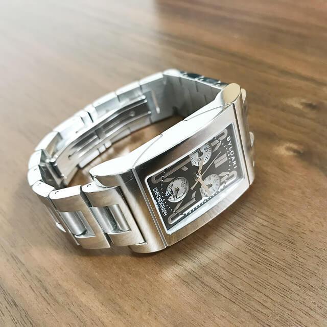 静岡県清水町からブルガリの腕時計【レッタンゴロ クロノ】を買取_02