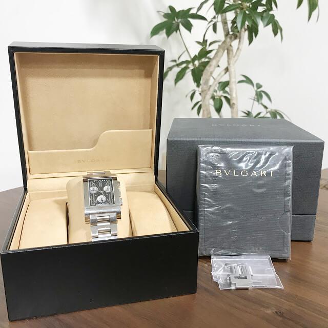 静岡県清水町からブルガリの腕時計【レッタンゴロ クロノ】を買取_04