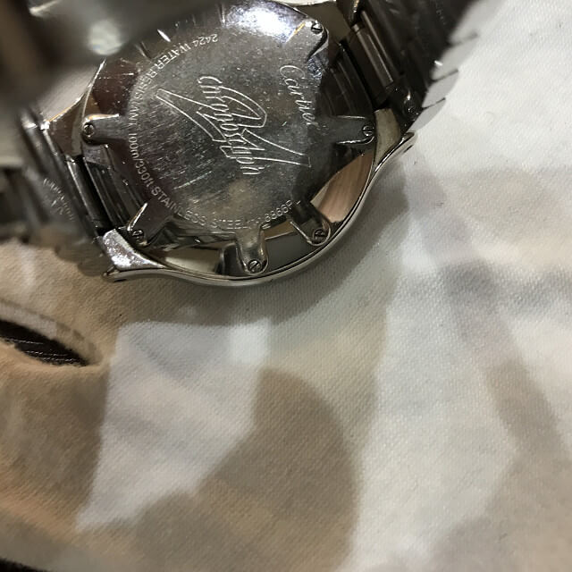 石橋のお客様からカルティエの腕時計【マスト21 クロノスカフ】を買取_03