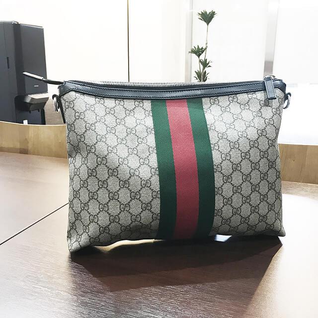 心斎橋のお客様からグッチの【GGスプリーム】メッセンジャーバッグを買取_01
