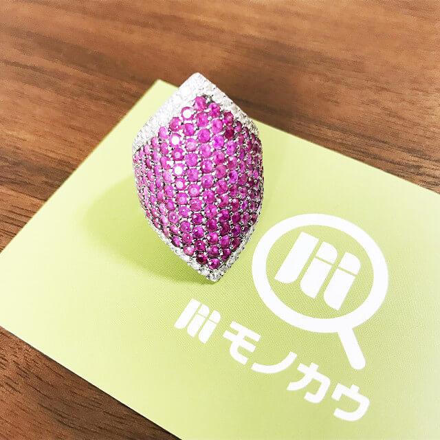 緑橋のお客様からルビー×ダイヤモンドの指輪を買取_01