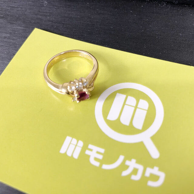 鴫野のお客様からルビー×ダイヤの指輪を買取_01