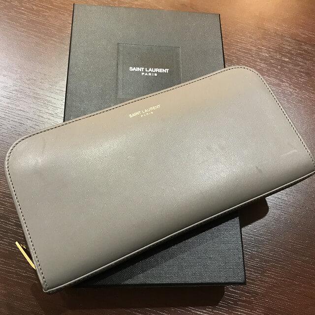 熊本からサンローランのラウンドファスナー長財布を買取_02