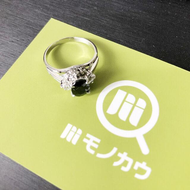 玉造のお客様からサファイア×ダイヤモンドの指輪を買取_01